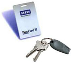 Proximity card and key chain fob